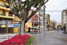 Street in Santa Cruz de Tenerife. Canary Islands. Spain Stock Image