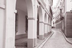 Street in Santa Cruz Neighbourhood; Seville Royalty Free Stock Image