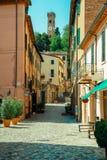 Street in Santarcangelo c views of the chapel Italy Royalty Free Stock Photo