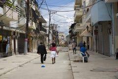 Street in SANTO DOMINGO in the caribbean DOMINICAN REPUBLIC Stock Photo