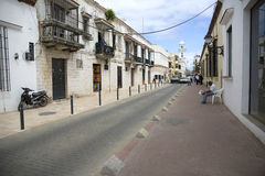 Street in SANTO DOMINGO in the caribbean DOMINICAN REPUBLIC Royalty Free Stock Photos