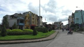 Street of Sapa, Vietnam stock footage