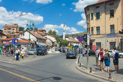 Street in Sarajevo stock image