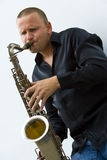Street Sax Player Stock Image