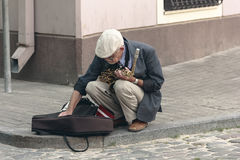 Street saxophonist Royalty Free Stock Image