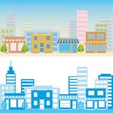 Street scene. This graphic is street scene. Illustration Royalty Free Stock Images