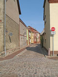 Street scene. In Roebel, Mecklenburg-Western Pomerania, Germany Royalty Free Stock Images