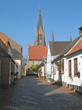 Street scene. In Schleswig, a town of Schleswig-Holstein, Germany royalty free stock photos