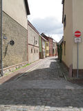 Street scene. In Roebel, Mecklenburg-Western Pomerania, Germany Stock Image