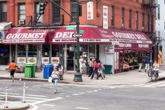 Street scene along Columbus Avenue in New York City Stock Images