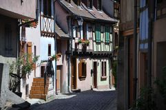 Street scene Alsace Royalty Free Stock Images