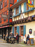Street scene in Alsace Stock Photos
