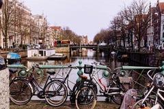 Street Scene of Amsterdam Stock Photos