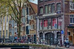 Street scene in Amsterdam stock images