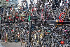 Street scene in Amsterdam stock photography