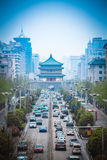 The street scene of ancient city in xian Royalty Free Stock Photography