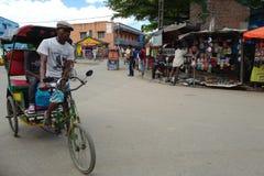 Street scene of Antananarivo, Madagascar Stock Photography