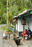 Street scene in bali indonesia Royalty Free Stock Photos