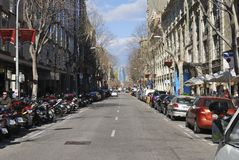 Street scene in Barcelona. Spain Stock Photo