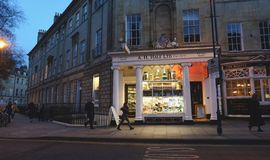Street Scene.  Bath, England. Royalty Free Stock Photography