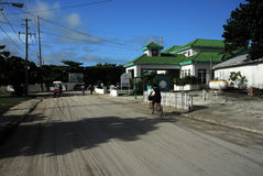Street scene in belize. Belizian house Royalty Free Stock Photo