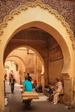 Street scene at Ben Youssef. Marrakesh. Morocco stock photography