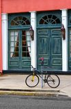 Street Scene With Bicycle. Charleston, South Carolina Street Scene Royalty Free Stock Photography