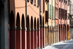 Street scene in Bologna, Italy. Royalty Free Stock Photo