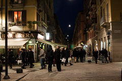 Street scene of Brera, Milan, Italy Stock Photography