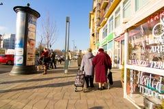 Street scene in Budapest Stock Images