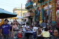 Street scene in the Buenos Aires Royalty Free Stock Photography