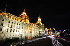 Street scene of The bund (Shanghai) royalty free stock image