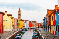 Street Scene in Burano Italy Royalty Free Stock Images