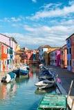 Street scene in Burano near Venice, Italy Royalty Free Stock Image