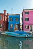 Street scene in Burano near Venice, Italy Royalty Free Stock Photo