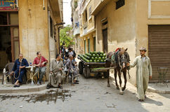 Street scene in cairo old town egypt Stock Photography