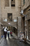 Street scene in cairo old town egypt Stock Image