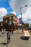 Street scene in Camden, London, UK Stock Images
