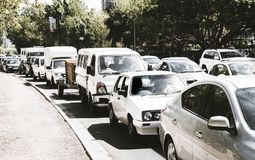 Street scene in Cape Town royalty free stock image