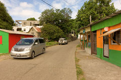 A street scene in the caribbean Royalty Free Stock Images