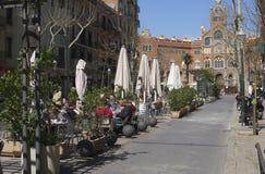 Street scene in central Barcelona. Spain Stock Photography