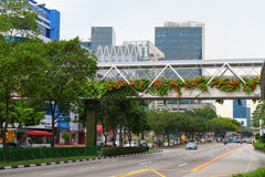 Street scene in central business diistrict in Singapore Royalty Free Stock Photography