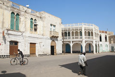 Street scene in central central massawa in eritrea Royalty Free Stock Photo