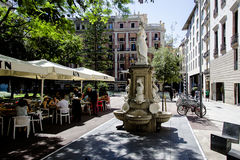 Street scene in central of the Gothic quarter Barcelona Royalty Free Stock Photography