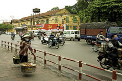 Street scene in central hanoi vietnam Stock Photos