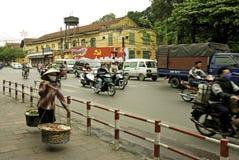 Street scene in central hanoi vietnam Stock Photos