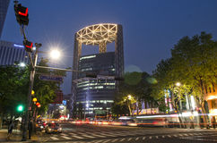 Street scene in central seoul south korea Royalty Free Stock Photography