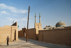 Street scene in central yazd iran Stock Photo