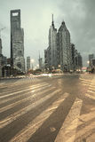 The street scene of the century avenue in shanghai,China. Royalty Free Stock Image