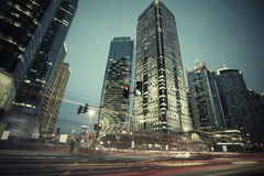 The street scene of the century avenue in shanghai,China. Royalty Free Stock Photos
